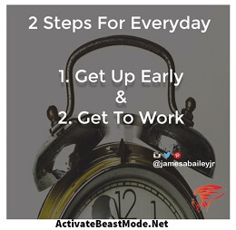 2 steps for everyday success activate beast mode motivational quotes
