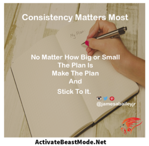 No Matter How Motivational Quote Big or Small The Plan Is Make The Plan and Stick To It.
