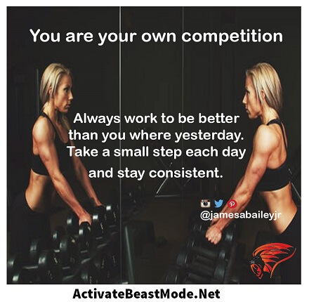 You Are Your Own Comptetition Activate Beast Mode Motivational Quotes